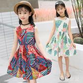 女童中大尺碼新款兒童韓版洋裝舒適潮流中大童女孩公主裙洋氣裙子 js5577『黑色妹妹』