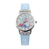 【Disney】公主系列 艾莎 皮製錶帶兒童錶-雪亮藍/FR-3K2526U-003BE/原廠授權享一年保固