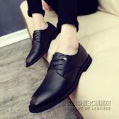 皮鞋尖頭頭鞋英倫透氣商務正裝休閒皮鞋