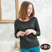 【岱妮蠶絲】素面圓領蠶絲八分袖衛生衣(黑)