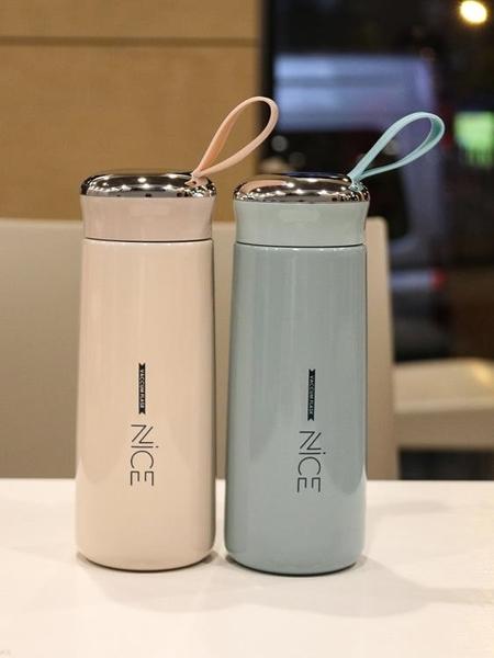 高檔男女士不銹鋼保溫杯情侶簡約韓版便攜喝茶杯學生車載禮品杯子 美好生活
