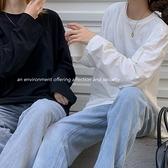 (下殺)韓版自製慵懶風疊穿寬鬆百搭長袖T恤【08SG04573】