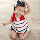 女寶寶套裝 上衣裙 屁屁褲 美國星條旗 蛋糕裙 套裝 Augelute Baby 32021