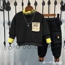 男童套裝秋裝2019新款洋氣兒童秋冬季中小童韓版加厚加絨兩件套潮 第一印象