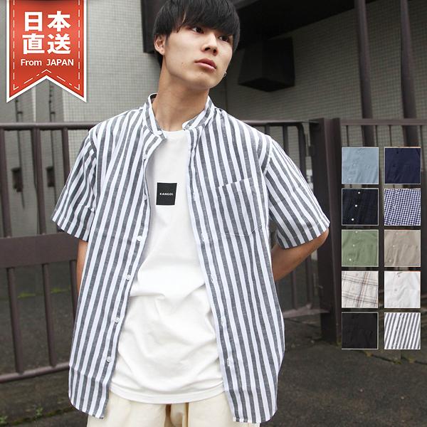 短袖襯衫 棉麻立領襯衫 10色 ZIP FIVE
