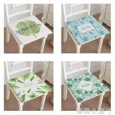 坐墊夏季手繪植物棉麻透氣椅墊加厚沙發墊防滑海綿餐椅墊榻榻米 igo全館免運