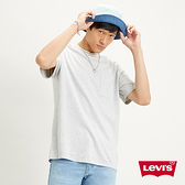 Levis 男款 短袖T恤 / 復古滾邊羅紋領口 / 單口袋素T / 寬鬆休閒版型