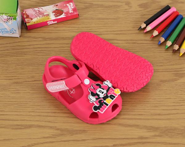 迪士尼米老鼠米奇米妮小熊維尼120130台灣製造魔鬼氈包頭護趾休閒涼鞋防水涼鞋兒童涼鞋59鞋廊