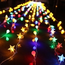 LED星星燈彩燈閃燈串燈滿天星房間浪漫布置燈飾網紅少女宿舍裝飾 小明同學