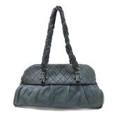 CHANEL 香奈兒 藍色牛皮肩背包 Lady Braid Shoulder Bag【二手名牌BRAND OFF】