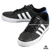 Adidas 新竹皇家 DAILY 黑色 皮質 運動 慢跑鞋 男款 NO.A8901