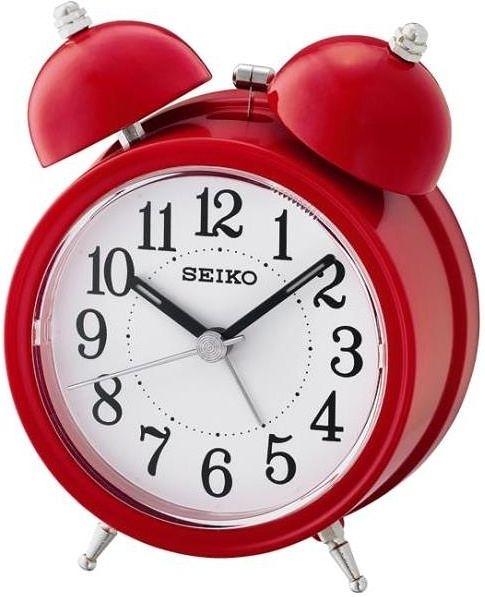 有發票 11.1X8.4公分【時間光廊】SEIKO 精工 響鈴聲 靜音 貪睡鬧鐘 QHK035R