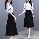 兩件式洋裝 超仙的法國小眾襯衫半身裙套裝...