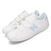 New Balance 休閒鞋 NB 210 白 藍 淺藍 女鞋 N字鞋 魔鬼氈 韓系 復古 【PUMP306】 AM210VTWD