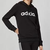 Adidas Essentials 女款 黑色 基本款 連帽 棉質 長袖 上衣 DP2403