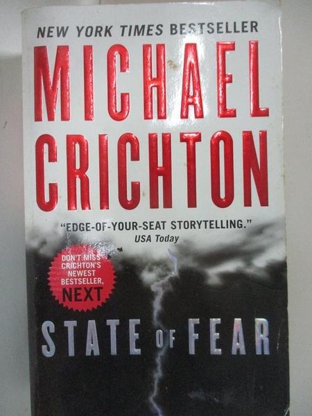 【書寶二手書T1/原文小說_BE7】State Of Fear_Michael