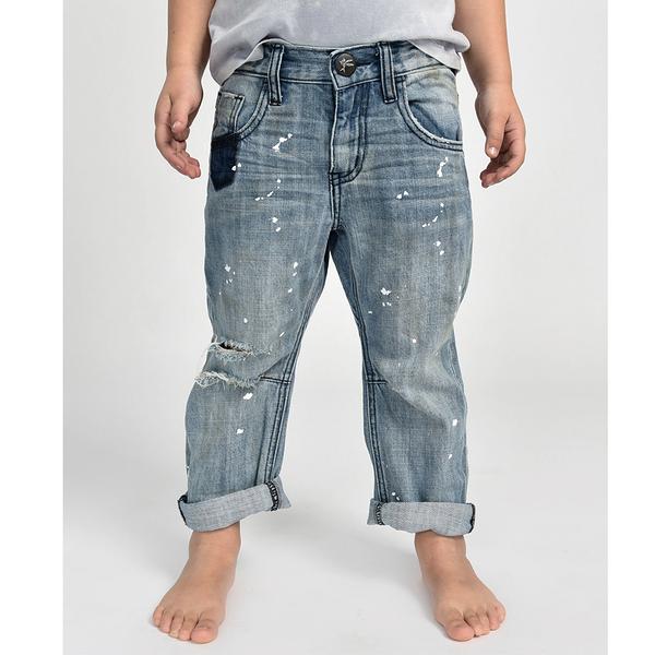 ONETEASPOON KIDS BOYFRIEND JEAN 牛仔褲-童裝(藍)