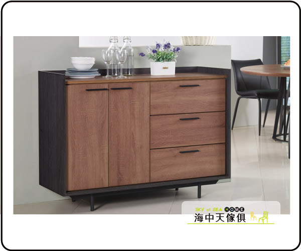 {{ 海中天休閒傢俱廣場 }} C-25 摩登時尚 餐廳系列 406-2 艾瑞克4尺雙色餐櫃