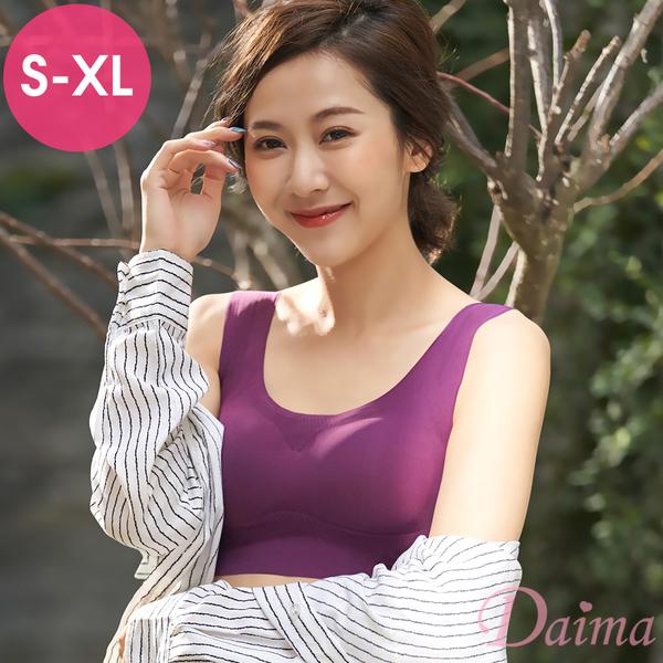 黛瑪Daima 親膚無痕(S~XL) 零著感手捧韻動內衣(紫色)9173