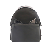 【FENDI】Monster Eyes不鏽鋼眼睛+牛皮拼尼龍Backpack(黑) 7VZ012 A2FT F0GXN