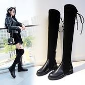 長靴子2019冬新款歐美過膝靴女瘦瘦靴平底顯瘦加絨靴彈力靴長筒靴