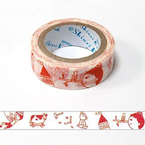 ★funbox生活用品★《Shinzi Katoh 加藤真治》紙膠帶15mm(小木偶) ZI02621