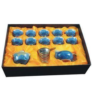 中逸 14件結晶釉功夫茶具 海之藍