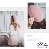 帽子 素面絨毛貝蕾帽-Ruby s 露比午茶