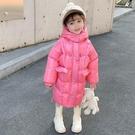 兒童棉服女 女童棉衣中長款加厚2021新款冬裝兒童冬季棉襖女洋氣羽絨棉服【快速出貨八折下殺】