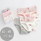 韓版女童純棉內褲。ROUROU童裝。女童純棉印花內褲3入組 0255-243