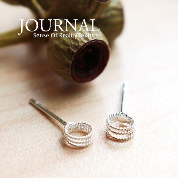 925純銀 極簡麻花線條 針式耳環_質物日誌Journal