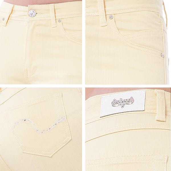 BOBSON 女款高腰膠原蛋白彩色七分褲(222-31)