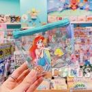 迪士尼 三角小物袋 透明收納包 化妝包 收納包 鑰匙包 零錢包 票卡包 美人魚款 COCOS WZ075