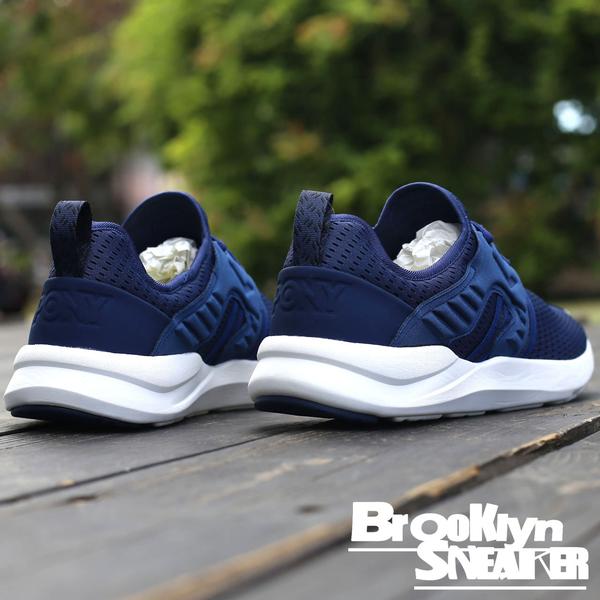 PONY SPLASH-X 深藍白 透氣網布 免鞋帶 輕量 女 (布魯克林) 2017/9月 73W1SP01NB