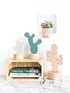 北歐書櫃裝飾仙人掌小擺件木質可愛桌面ins創意擺設家居飾品 618購物節