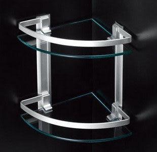 太空鋁三角架 化妝台 置物架 玻璃收納台L202