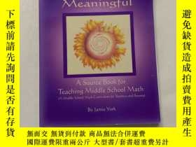 二手書博民逛書店By罕見Jamie York Making Math Meaningful : A Middle School M