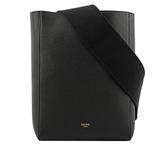 【CELINE】荔面小牛皮SANGLE BUCKET手袋(小款)(黑色) 189303AH4.38NO