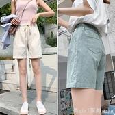 棉麻短褲女夏季2020新款韓版高腰寬鬆闊腿褲薄款顯瘦百搭休閒褲 俏girl
