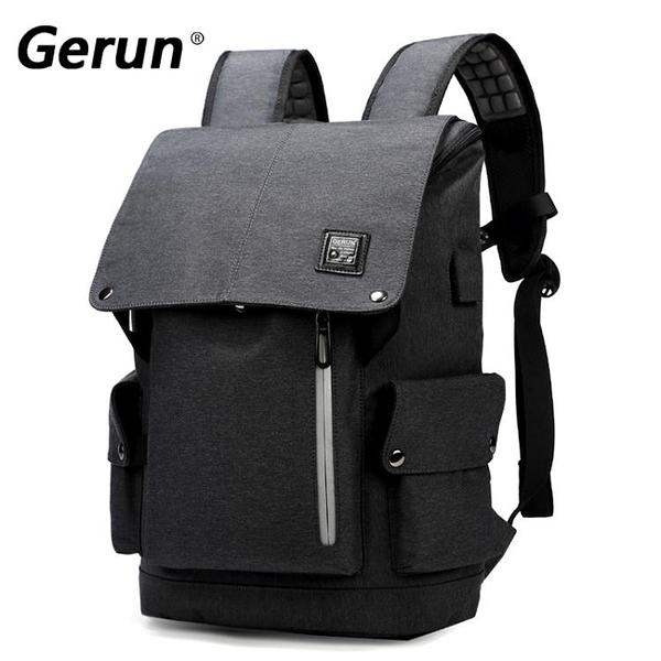 後背包 雙肩包男時尚潮流個性背包男韓版旅行15寸電腦包  萬客居