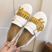 軟底豆豆鞋女 圓頭可愛大頭娃娃鞋 平底兩穿一腳蹬單鞋 降價兩天
