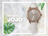 【時間道】NATURALLY JOJO  時尚晶鑽羅馬刻仕女腕錶 / 銀白面珠光白皮(JO96902-54R)免運費