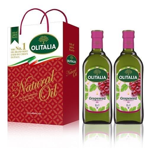 【南紡購物中心】Olitalia奧利塔-葡萄籽油禮盒(2罐/組)3組