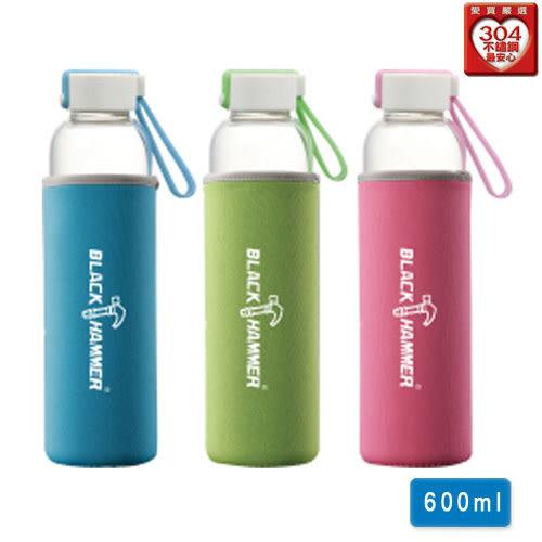 BLACK HAMMER 蒲公英耐熱玻璃水瓶(600ml)【愛買】