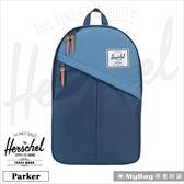 Herschel 後背包  海軍藍  斜拉鍊設計 15吋電腦後背包 Parker-1058 MyBag得意時袋