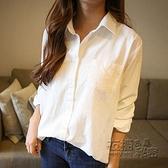 長袖襯衫 棉麻白色襯衫女新款寬鬆韓版長袖襯衣秋季早秋上衣設計感小眾 雙十二全館免運