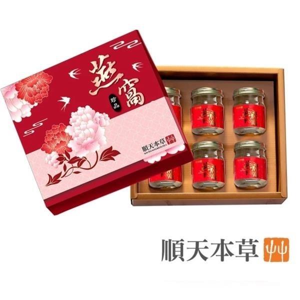 【南紡購物中心】【順天本草】冰糖燕窩禮盒(6瓶/盒)