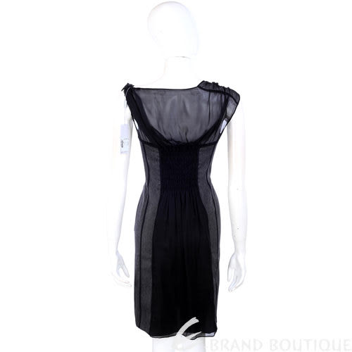 PHILOSOPHY 灰色紗質拼接包袖洋裝 1040158-06