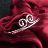 創意開口緊箍咒銀手鐲 鍍銀飾手飾 歐美飾品【多多鞋包店】s351