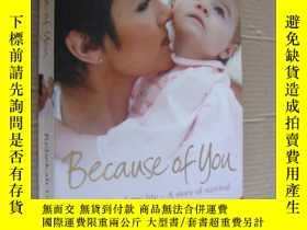 二手書博民逛書店because罕見of you (the fight of my